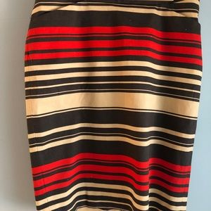 The Limited brown striped pencil skirt
